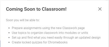 New Google Classroom Updates